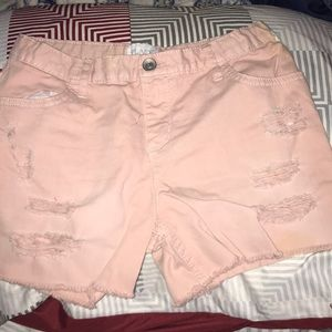 Children's Place pink shorts with rips size 12